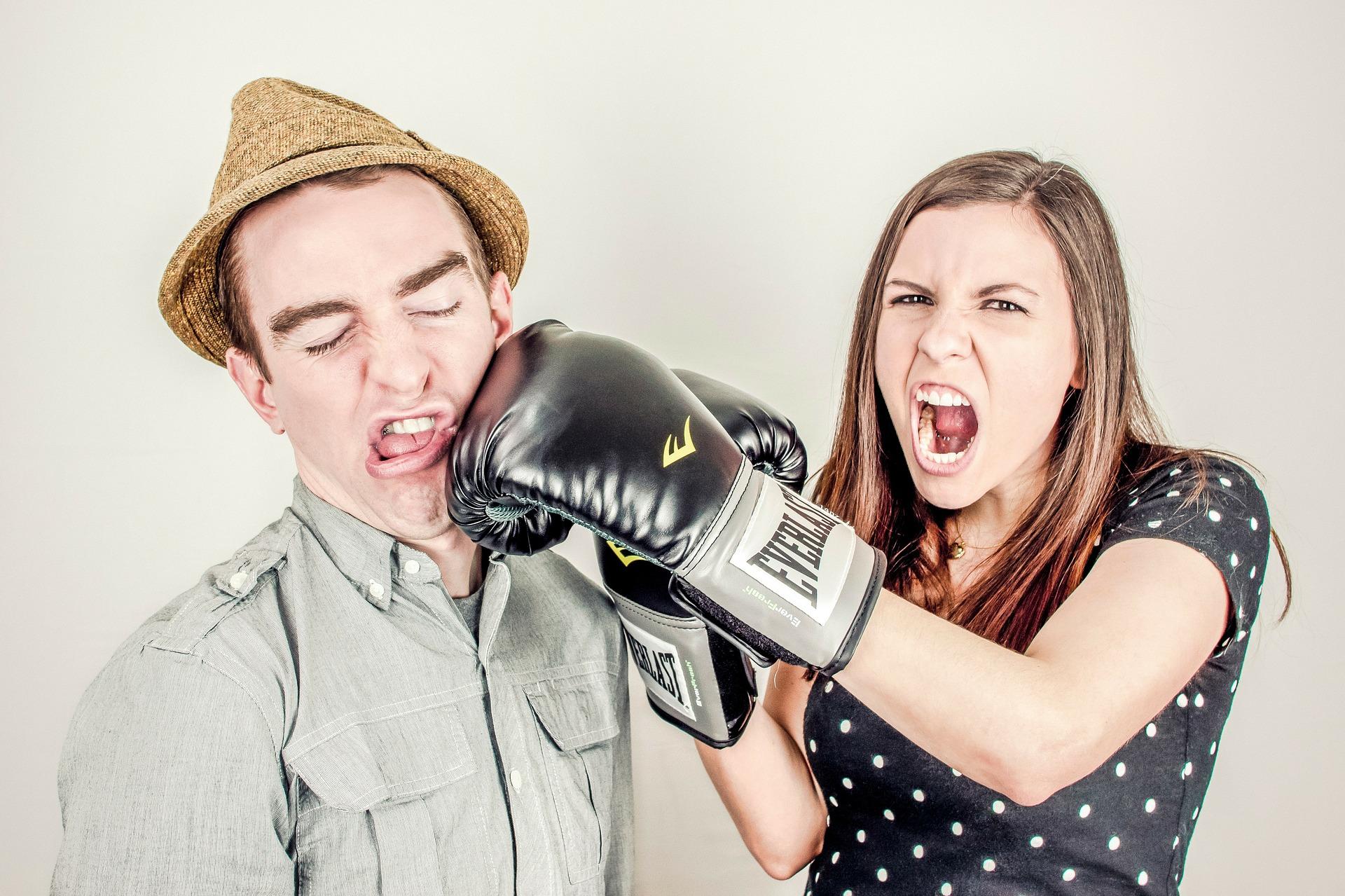 ljubavna svađa, borba muža i žene,