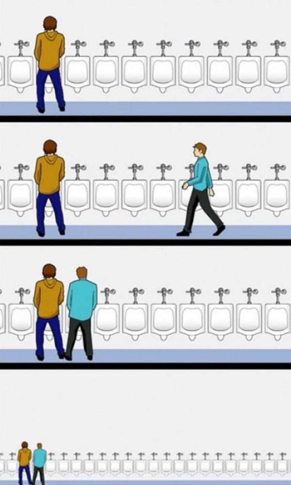 bonton u muškom WC-u